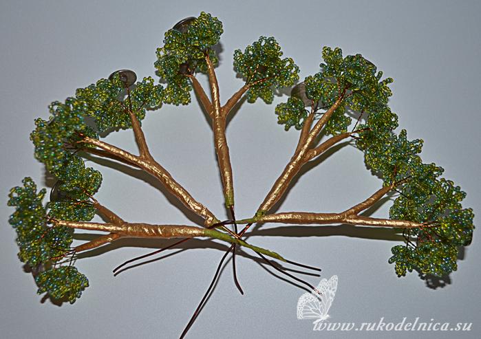 Денежное дерево своими руками из. как сделать денежное дерево.  Цветы и деревья из бисера Деревья из бисера.