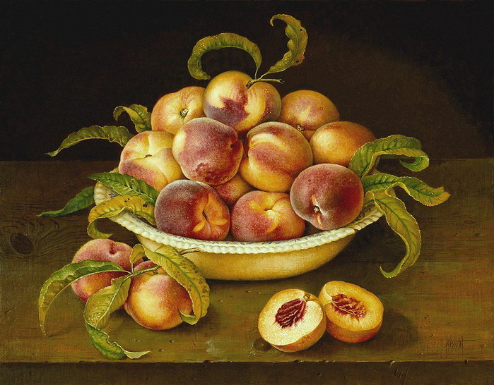 BOWL%20PEACHES%20ON%20WOODEN%20TABLE%20%2041x51%20cms%20%20Oil%20on%20canvas%20%201993 (700x546, 156Kb)