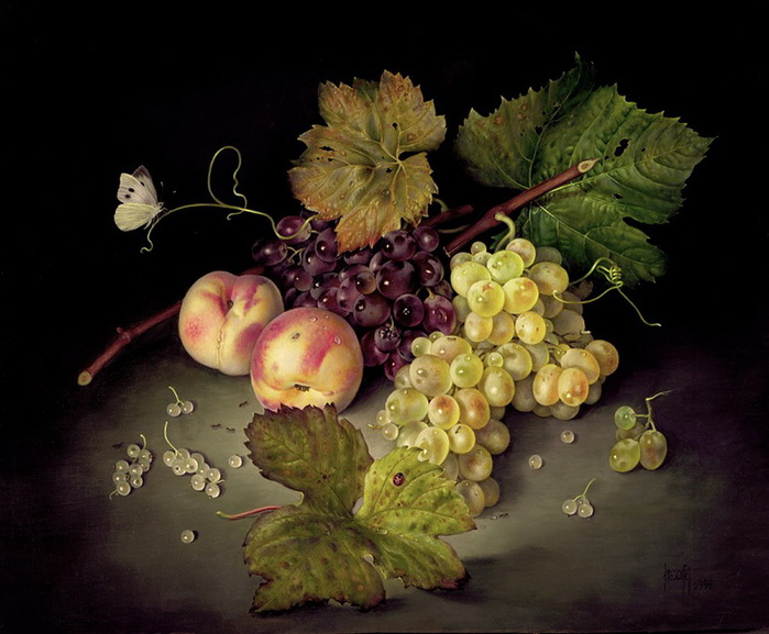 STILL%20LIFE-%20MIXED%20GRAPES%20AND%20PEACHES%20%2046X56%20CMS%20%20OIL%20ON%20CANVAS%201997 (700x577, 111Kb)