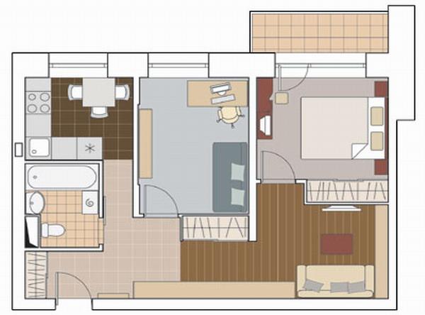 Проект квартиры для семьи с сыном-подростком.