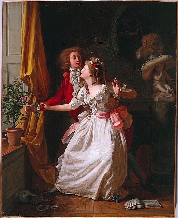 The Poorly Defended Rose (1789). Michel Garnier. (571x700, 409Kb)