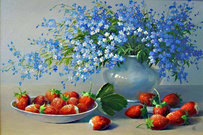 Полевые цветы и ягоды