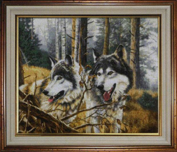 Часть 17 - вишивка волки