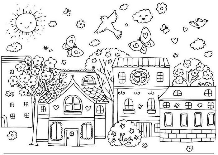 Раскраски для детей 4-5 лет на тему зима