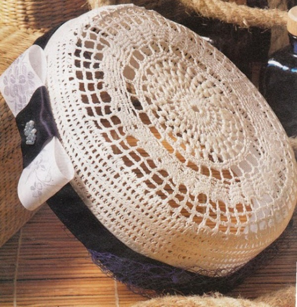 Связать шляпки крючком по схеме