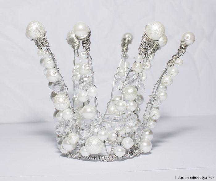 Ободок с короной принцессы своими руками