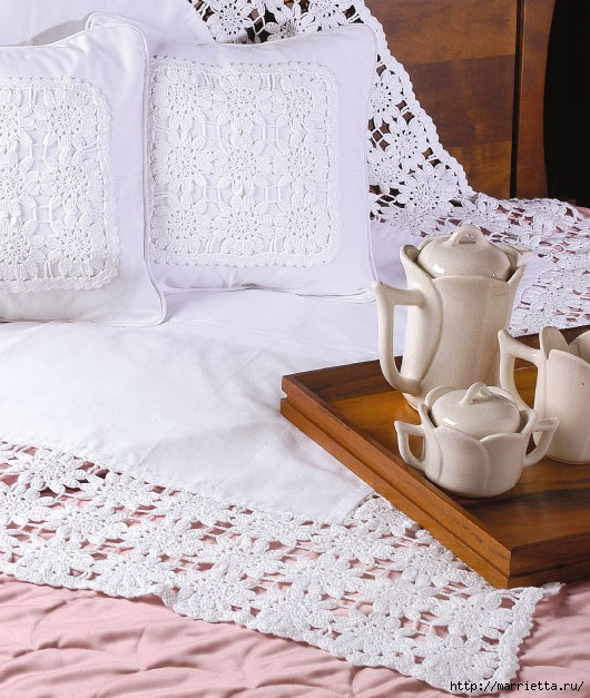 manteles atar hermosas y almohadas.  Ganchillo (1) (530x627, 238KB)