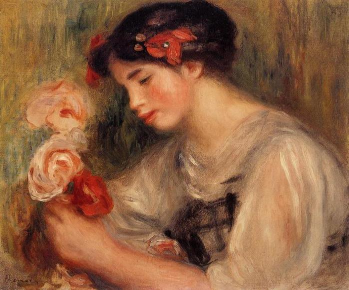 Portrait of Gabrielle (also known as Young Girl with Flowers) - 1900 (700x580, 69Kb)