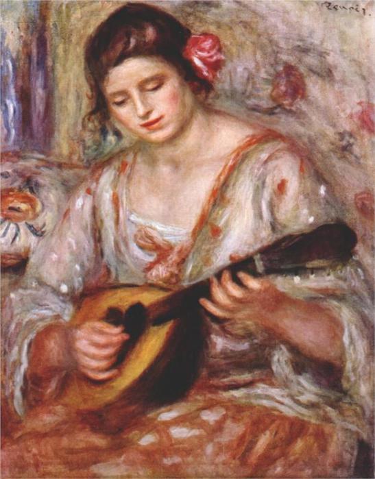 Девушка с мандолиной, 1918 (547x700, 58Kb)