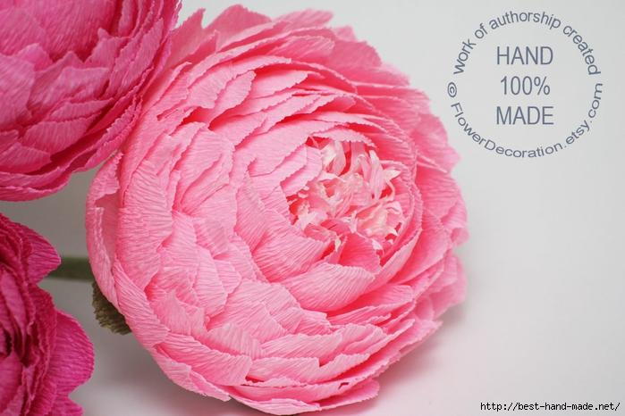 Цветы из креп бумаги мастер класс с пошаговым