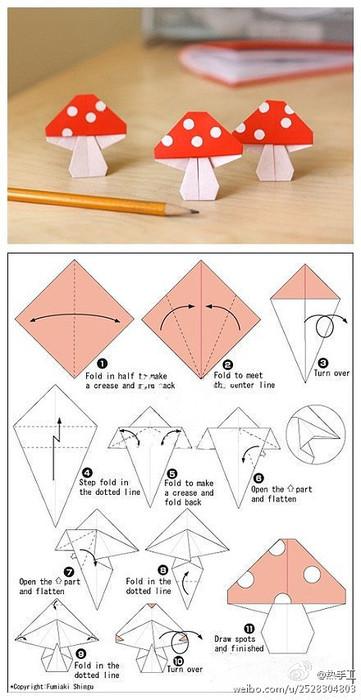 Мухоморчики (оригами)