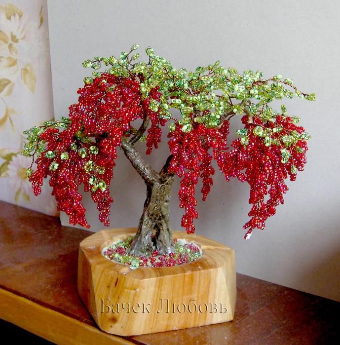 дерево глициния фото из бисера