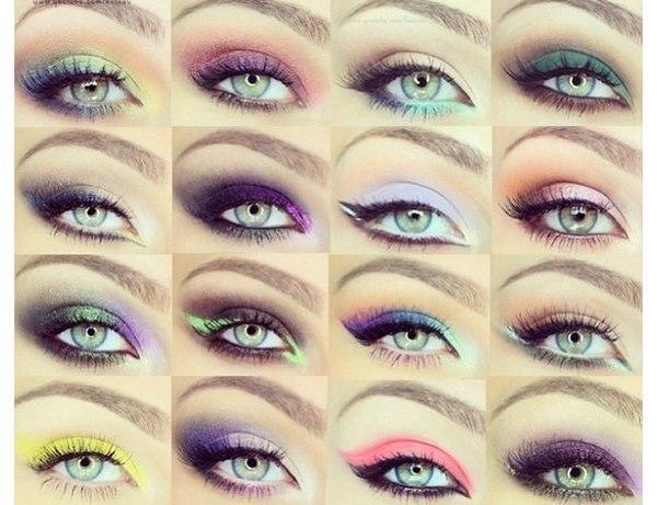 Макияж глаз разные варианты