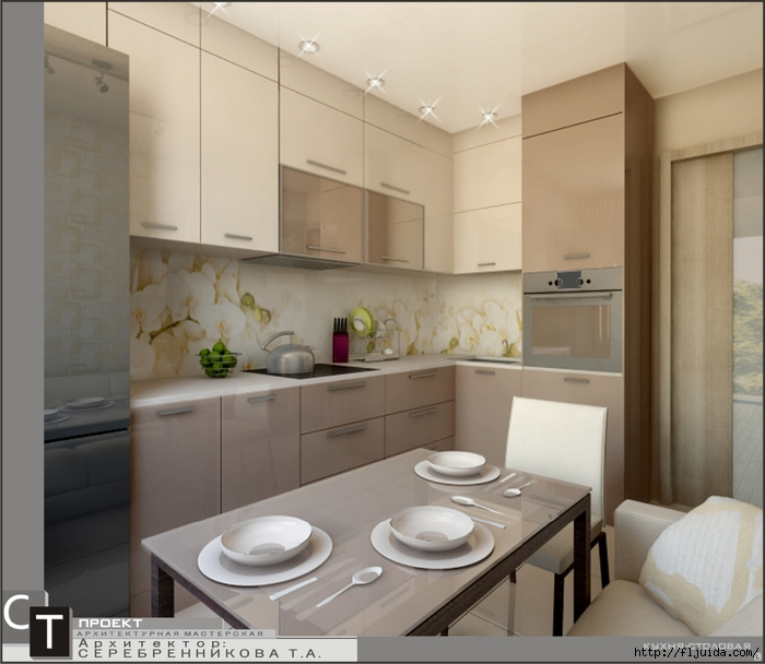Дизайн и интерьер кухни 9 кв