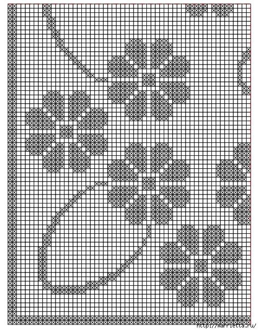 Схемы филейного вязания подушек - Уют и тепло моего дома