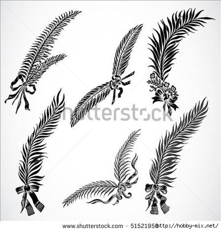 stock-vector-set-of-highly-detailed-vector-feather-ornaments-easy-to-edit-51521956 (450x470, 111Kb)