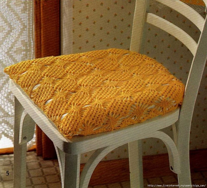Вязание сидушки для стульев 246