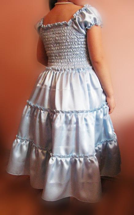 Платье ярусами сшить