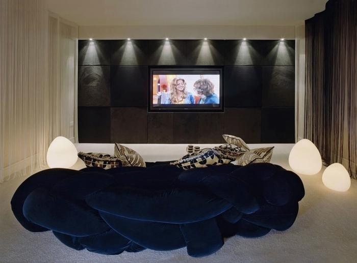 Фото дизайна интерьера домашних кинотеатров
