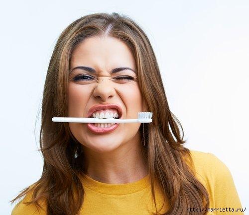 Ошибки при чистке зубов и как пользоваться зубной нитью (1) (500x433, 86Kb)