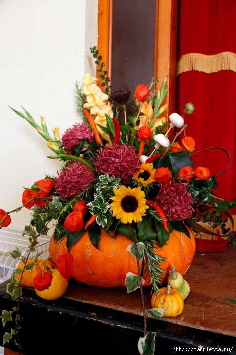 Осенняя флористика. Красивые идеи для украшения интерьера (9) (466x700, 260Kb)