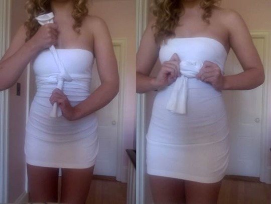 Стильное платье из мужского свитера водолазки