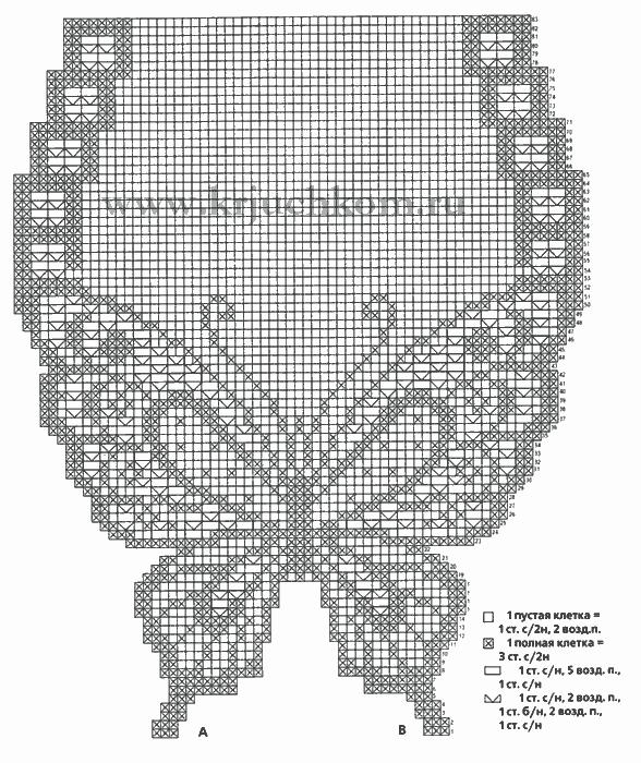 САЛФЕТКА - БАБОЧКА.jpg - СХЕМА (588x700, 40Kb)