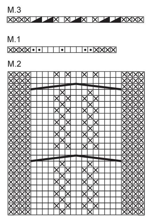 Спицами. Повязка для головы. Схема и описание (2) (492x700, 206Kb)