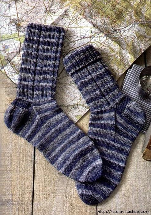 Носки спицами вяжем для всей семьи (10) (493x700, 412Kb)