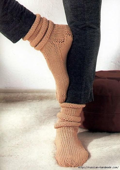 Носки спицами вяжем для всей семьи (12) (495x700, 255Kb)