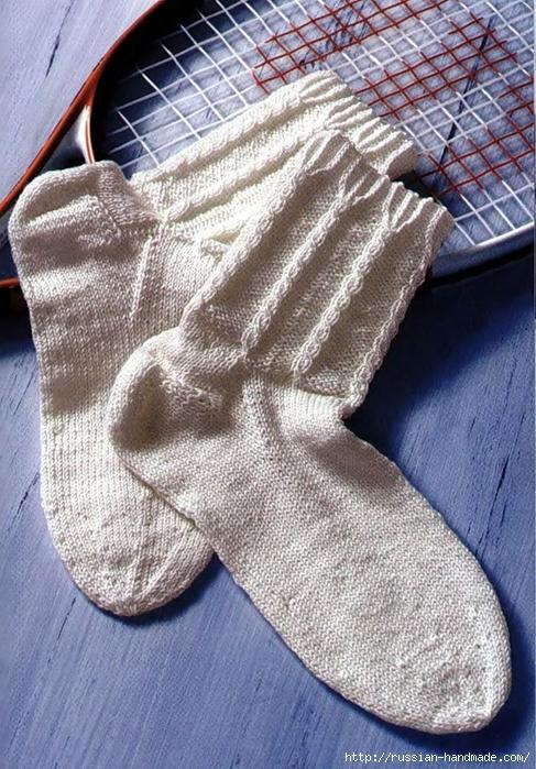 Носки спицами вяжем для всей семьи (18) (487x700, 350Kb)