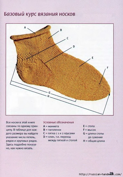 Носки спицами вяжем для всей семьи (28) (486x700, 270Kb)