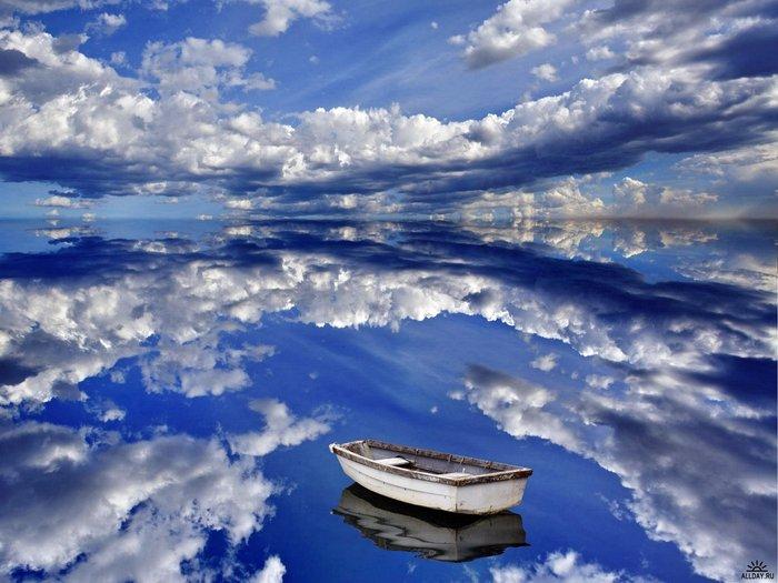 лодка и облака стихи