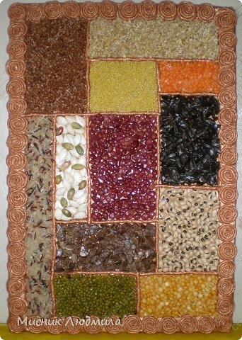 Панно из зерен, крупы и семечек для украшения кухонного интерьера (12) (342x480, 154Kb)
