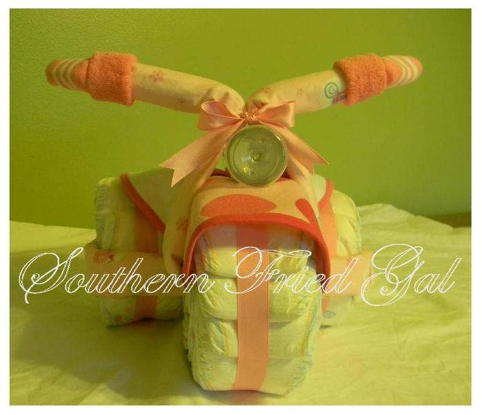 Motocicleta de los pañales - el mejor regalo para un recién nacido.  Master Class (19) (700x601, 233Kb)