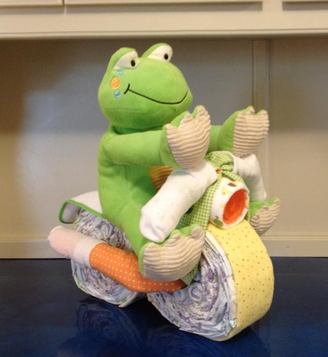Motocicleta de los pañales - el mejor regalo para un recién nacido.  Master Class (21) (641x700, 269Kb)