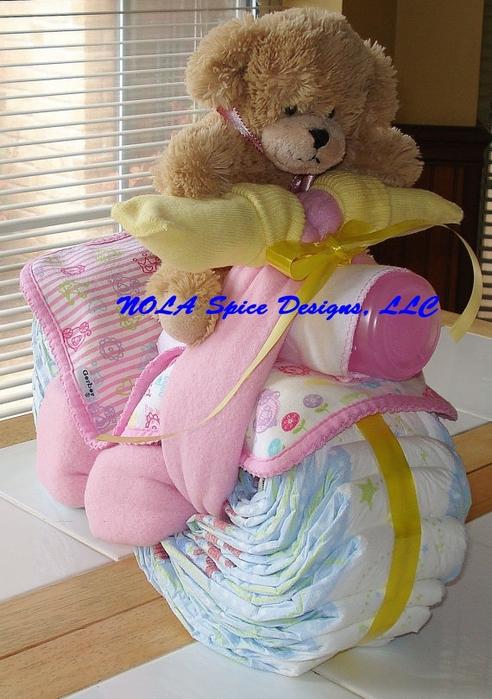 Motocicleta de los pañales - el mejor regalo para un recién nacido.  Master Class (25) (492x700, 281kb)