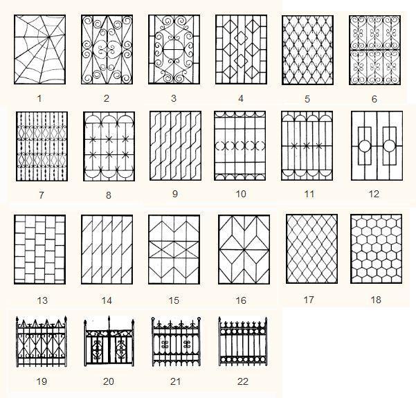 Изготовления решеток на окна своими руками 407