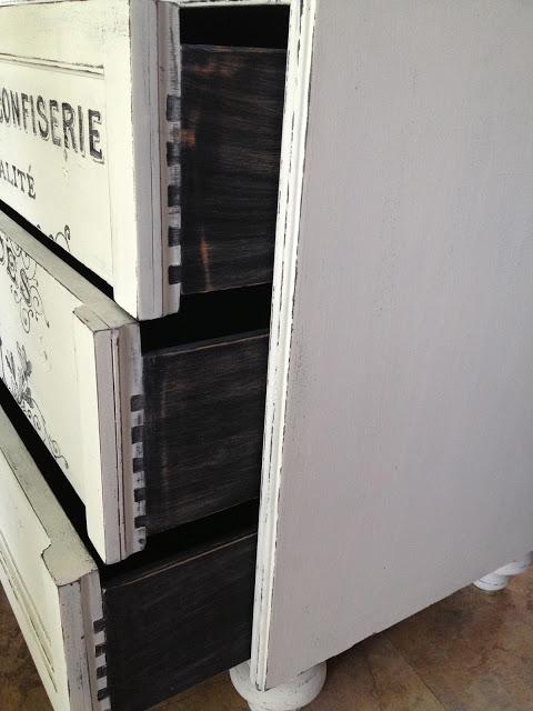 Реставрация старого комода в винтажном стиле, с использованием переноса изображения (12) (480x640, 151Kb)