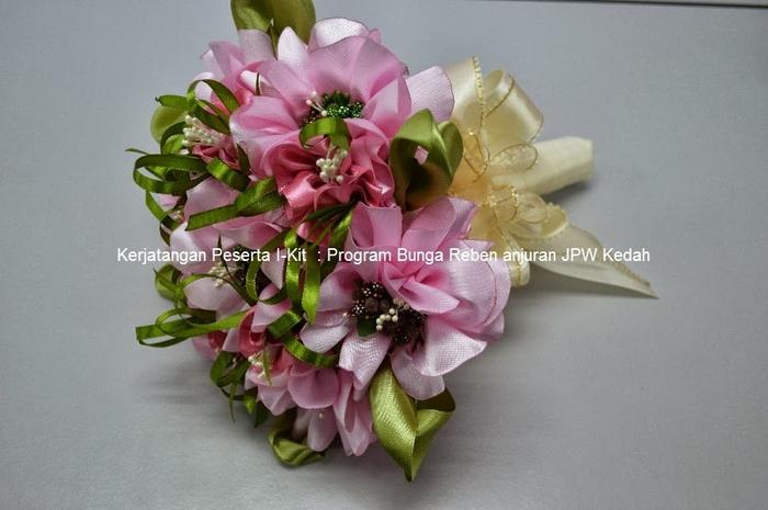 Цветы из лент и ткани. Красивые букеты (5) (700x465, 205Kb)