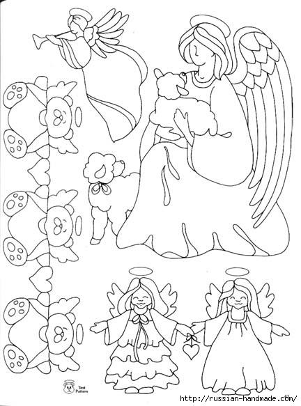 трафареты ангелов (11) (432x583, 139Kb)