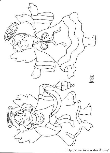 трафареты ангелов (13) (432x602, 106Kb)