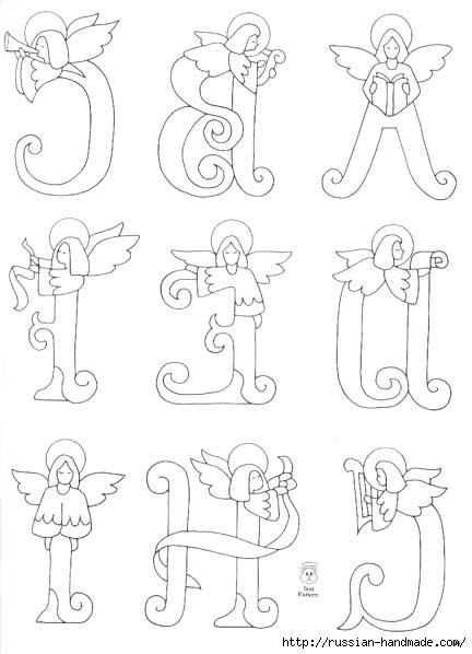 трафареты ангелов (17) (432x598, 97Kb)
