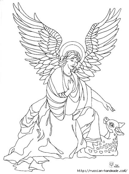 трафареты ангелов (27) (432x580, 133Kb)