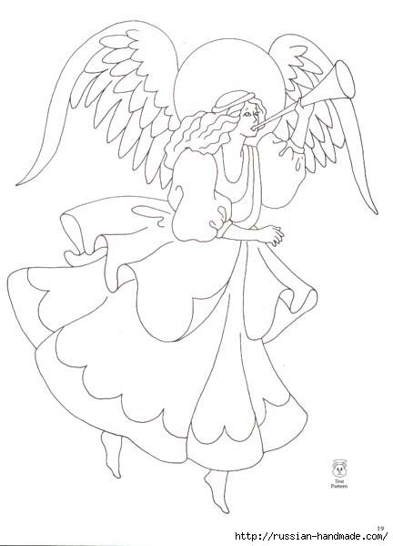 трафареты ангелов (33) (432x599, 80Kb)