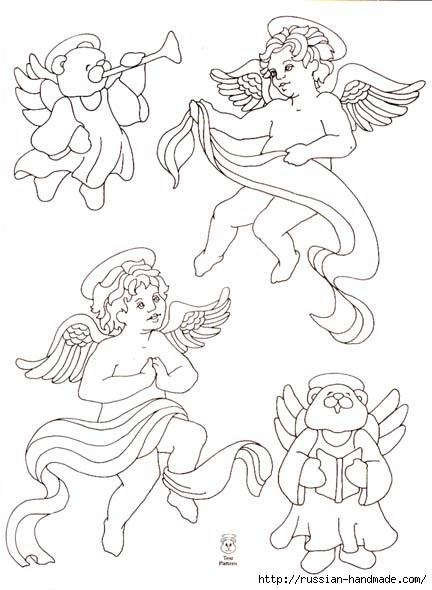 трафареты ангелов (37) (432x590, 132Kb)