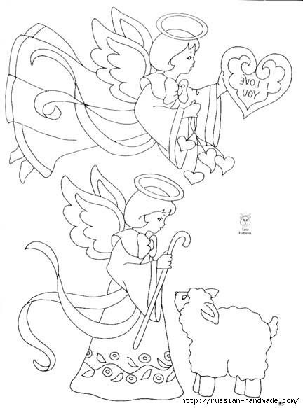 трафареты ангелов (47) (432x583, 105Kb)