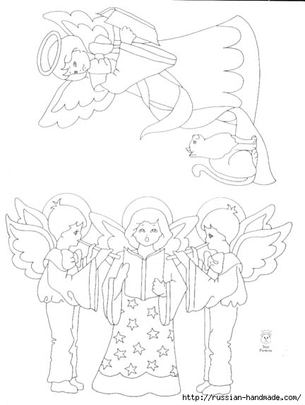 трафареты ангелов (49) (432x573, 86Kb)