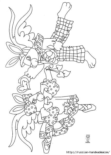 трафареты ангелов (69) (432x602, 126Kb)