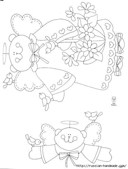трафареты ангелов (77) (432x569, 96Kb)